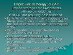 empiric initial therapy for cap2