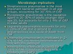 microbiologic implications