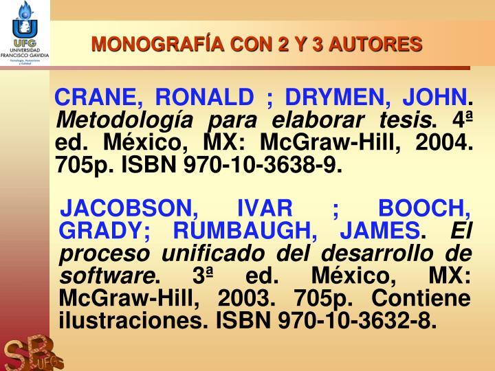 MONOGRAFÍA CON 2 Y 3 AUTORES