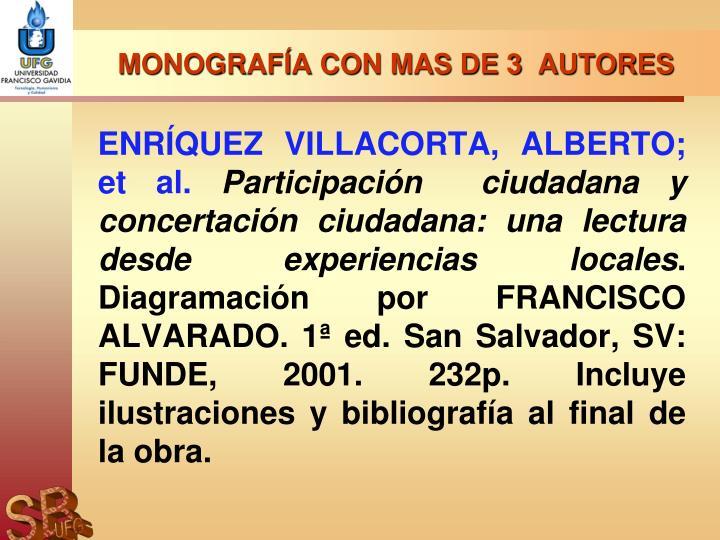 MONOGRAFÍA CON MAS DE 3  AUTORES
