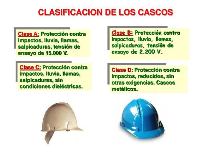 CLASIFICACION DE LOS CASCOS