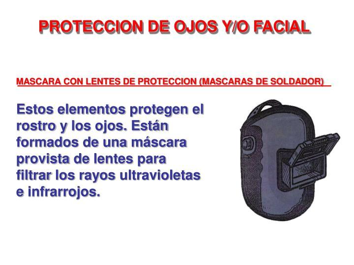 MASCARA CON LENTES DE PROTECCION (MASCARAS DE SOLDADOR)