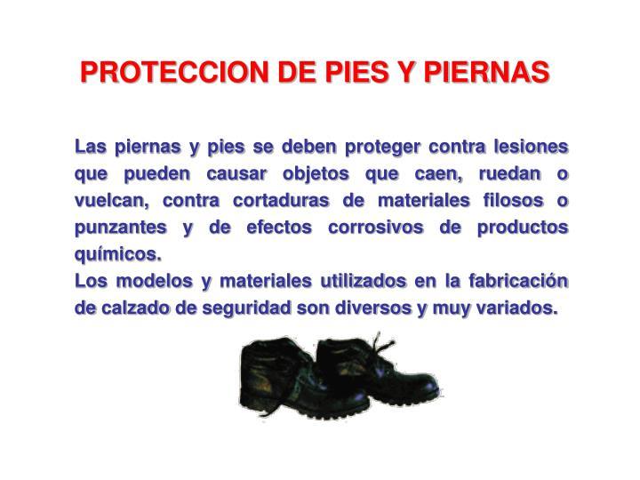 PROTECCION DE PIES Y PIERNAS