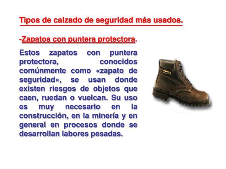 Tipos de calzado de seguridad más usados