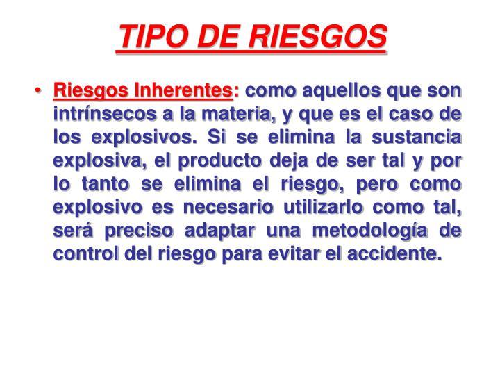 TIPO DE RIESGOS