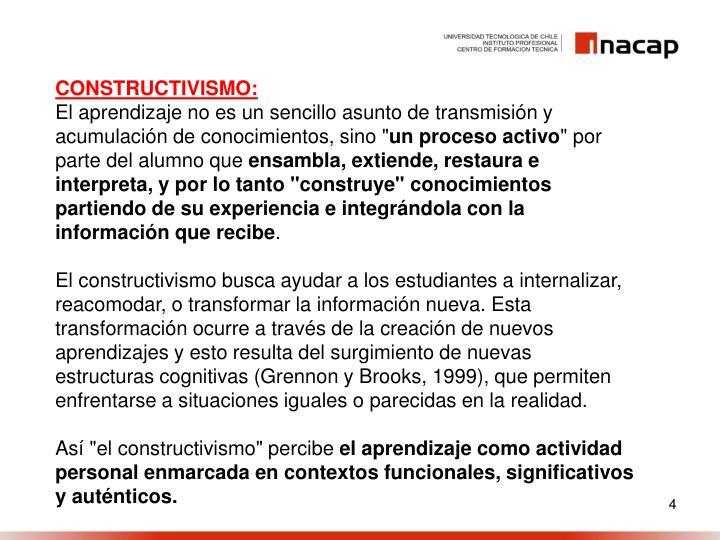 CONSTRUCTIVISMO: