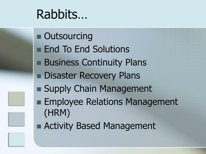 Rabbits…