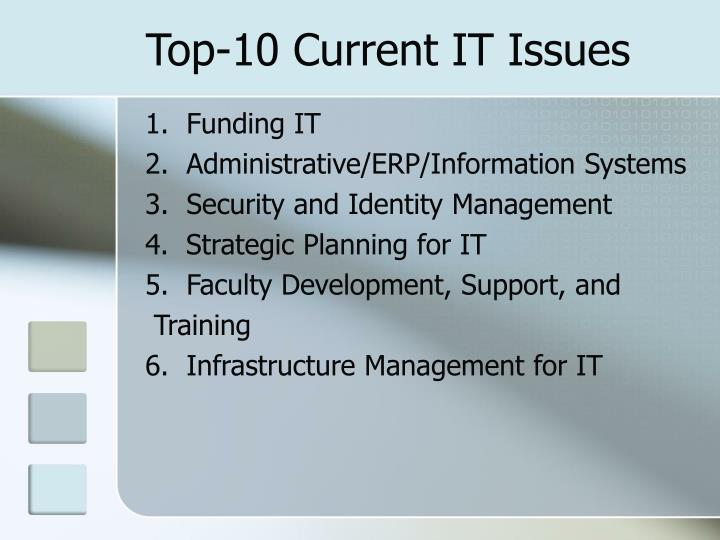 Top-10 Current IT Issues