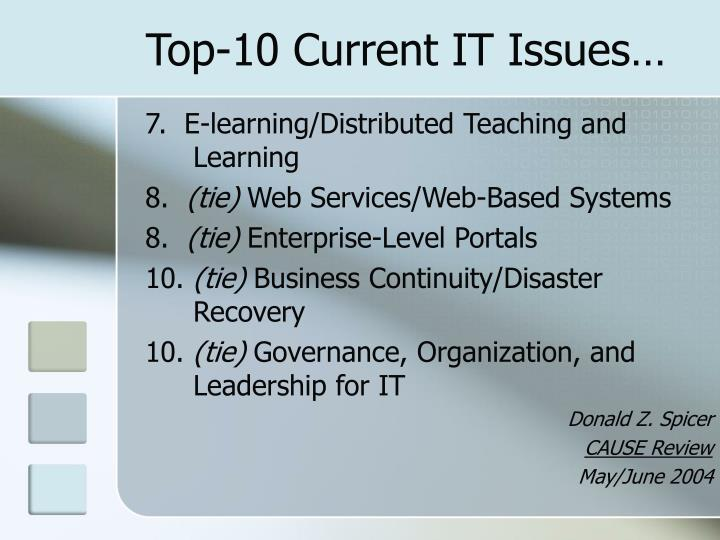 Top-10 Current IT Issues…