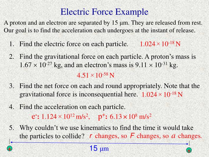 Electric Force Example