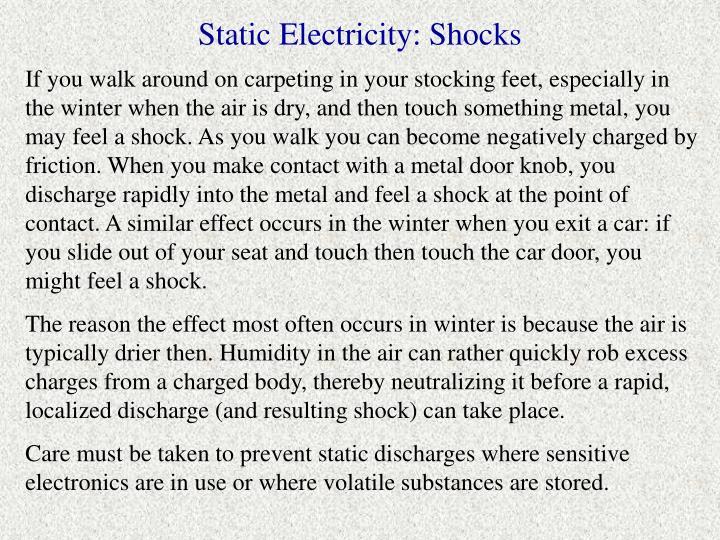 Static Electricity: Shocks