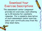 download your exercise descriptions