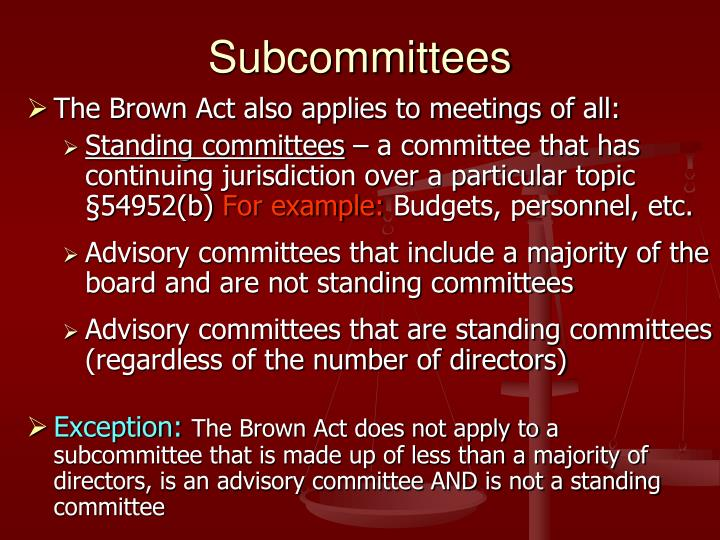Subcommittees