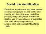 social role identification