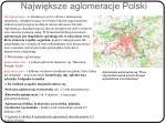 najwi ksze aglomeracje polski