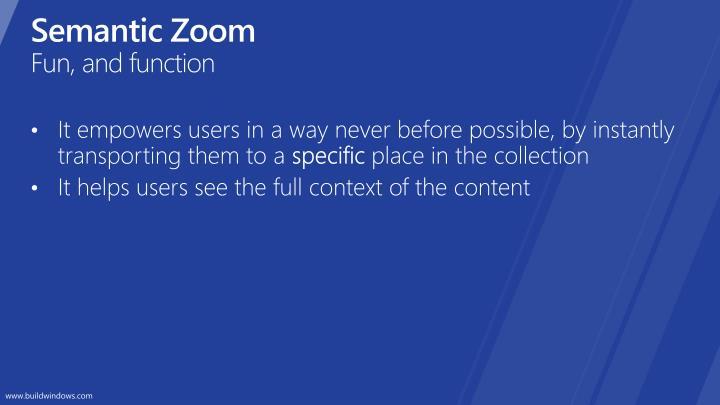 Semantic Zoom