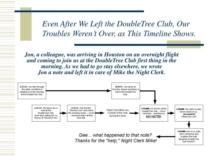 Jon, a colleague, was arriving in Houston on an overnight flight