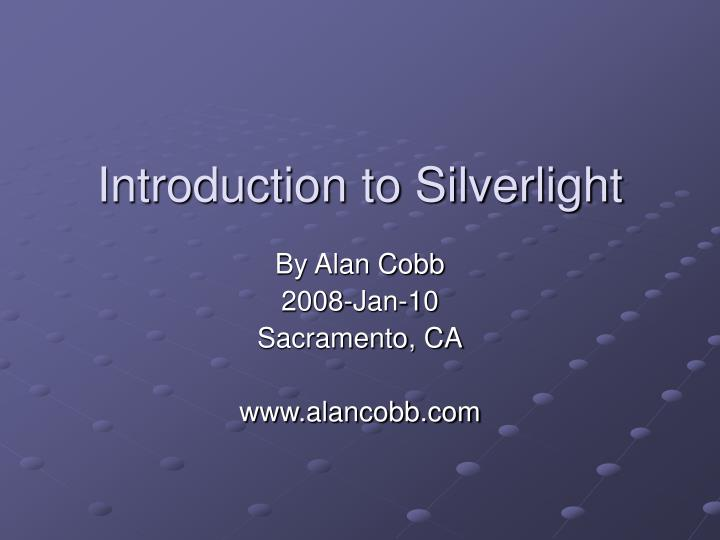 introduction to silverlight n.