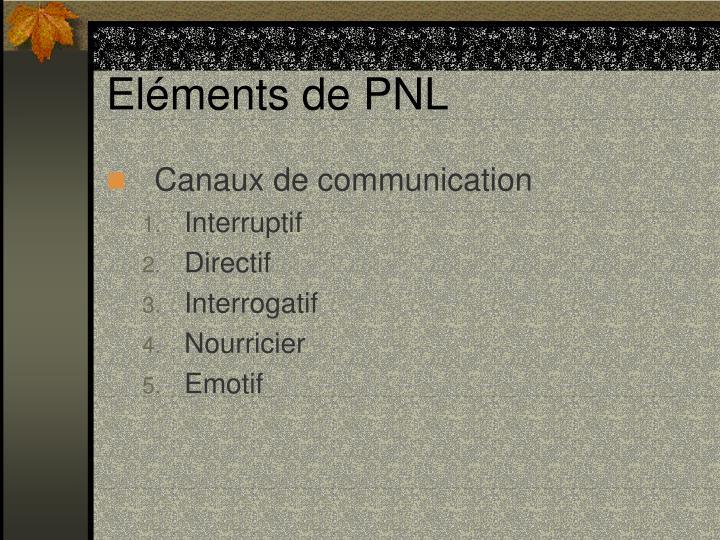 Eléments de PNL