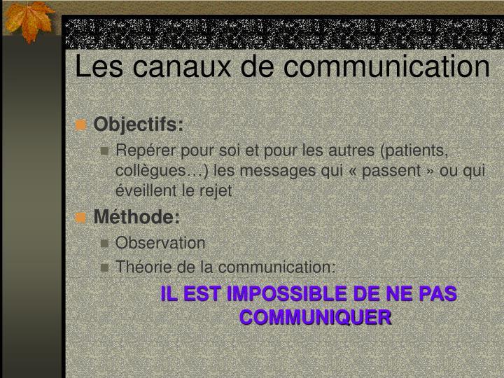 Les canaux de communication1