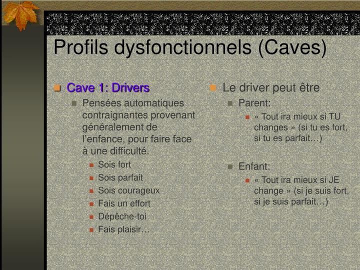 Cave 1: Drivers