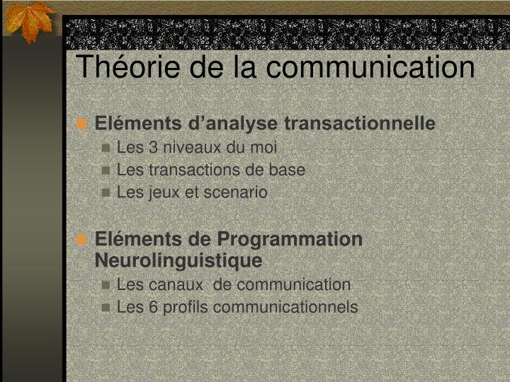 Th orie de la communication