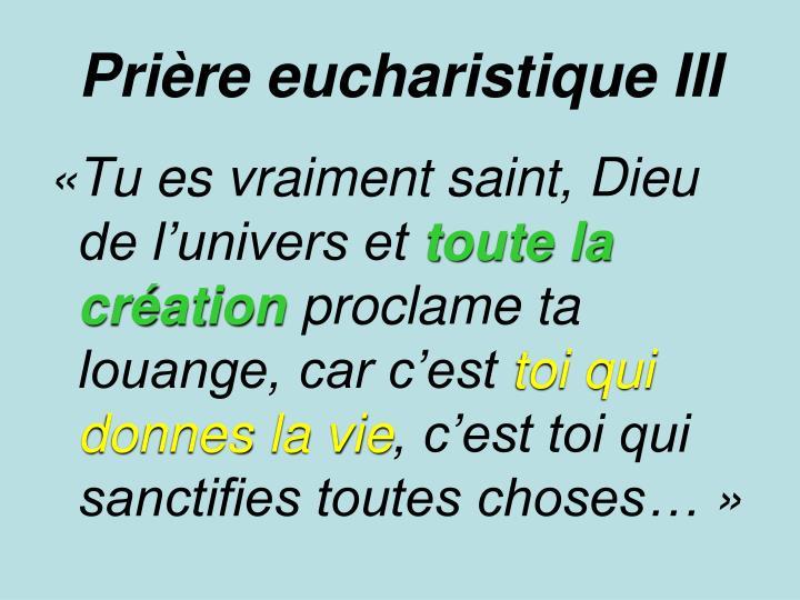 Prière eucharistique III