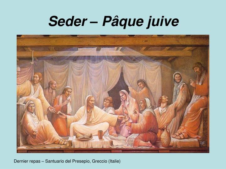 Seder – Pâque juive
