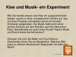 klee und musik ein experiment