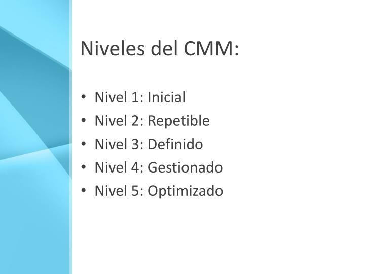 Niveles del CMM: