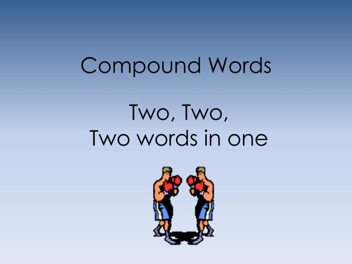 compound words n.