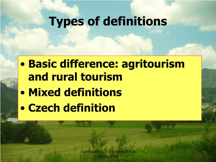 Types of definitions