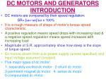 dc motors and generators introduction1