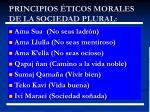 principios ticos morales de la sociedad plural
