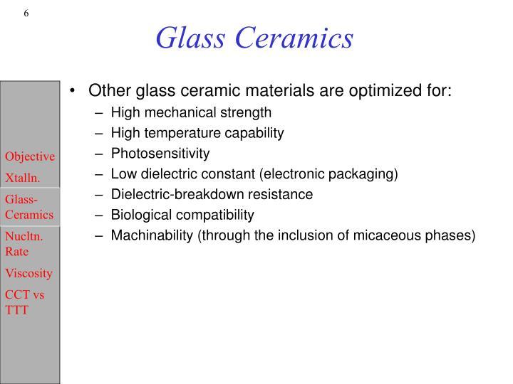 Glass Ceramics