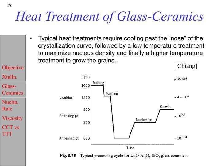 Heat Treatment of Glass-Ceramics
