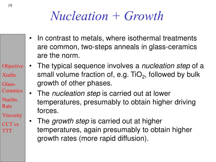 Nucleation + Growth