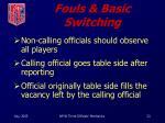 fouls basic switching