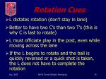 rotation cues
