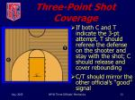 three point shot coverage