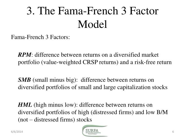 the fama and french Abstract: this paper empirically examines the fama-french three-factor model of  stock returns for croatia in contrast to the results of fama and french (1993).