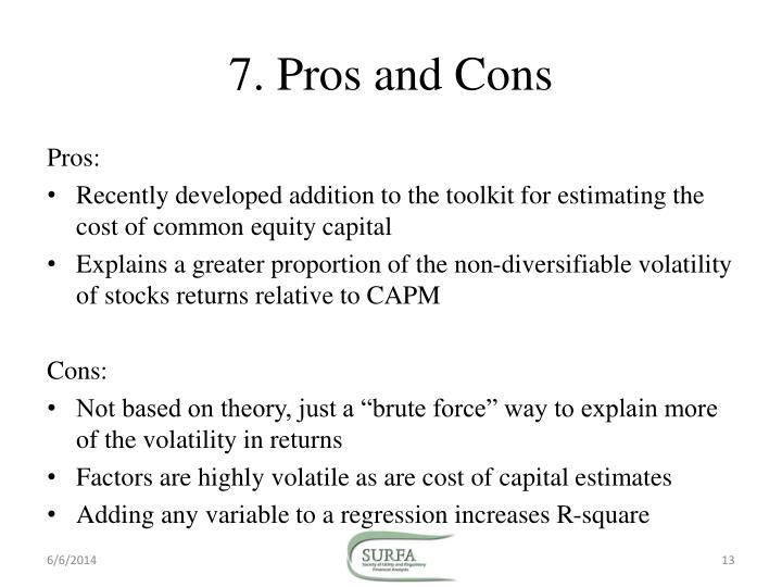 pros and cons of capm Downside capm by eric bank on february 28, 2011 no comments in documenting the search for alpha we have devoted a lot of blog space in the past examining the pros and cons of the capital asset pricing model (capm).