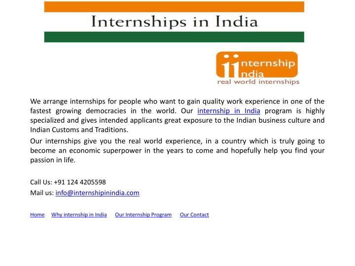 We arrange internships for people who want to gain quality work experience in one of the fastest gro...