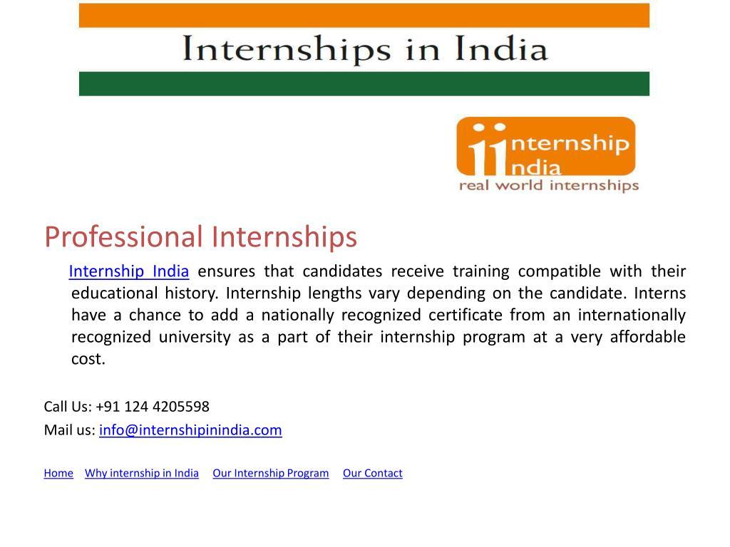 Professional Internships