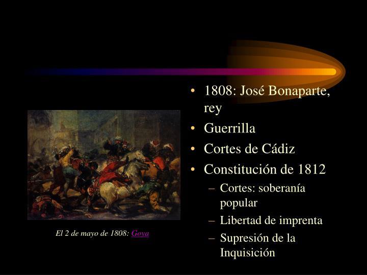 1808: José Bonaparte, rey