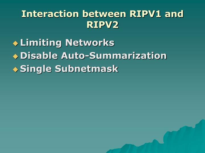 Interaction between RIPV1 and RIPV2