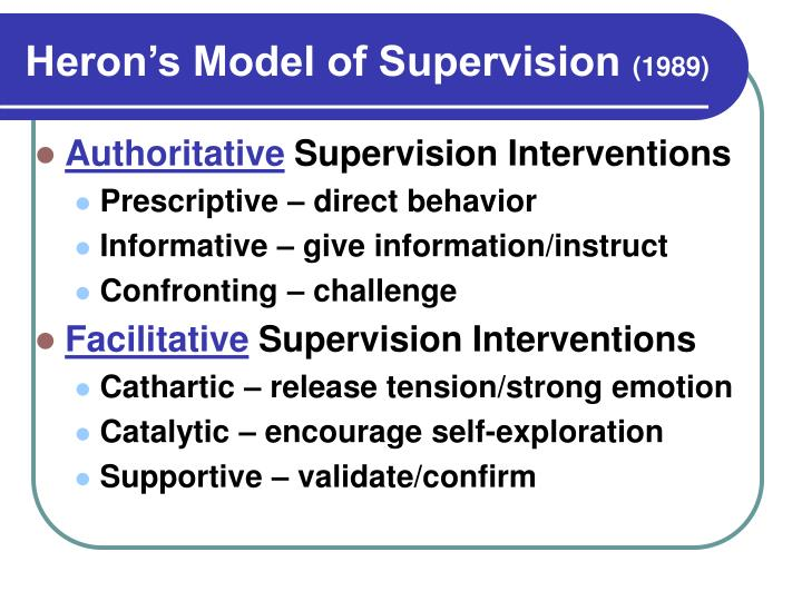 Heron's Model of Supervision