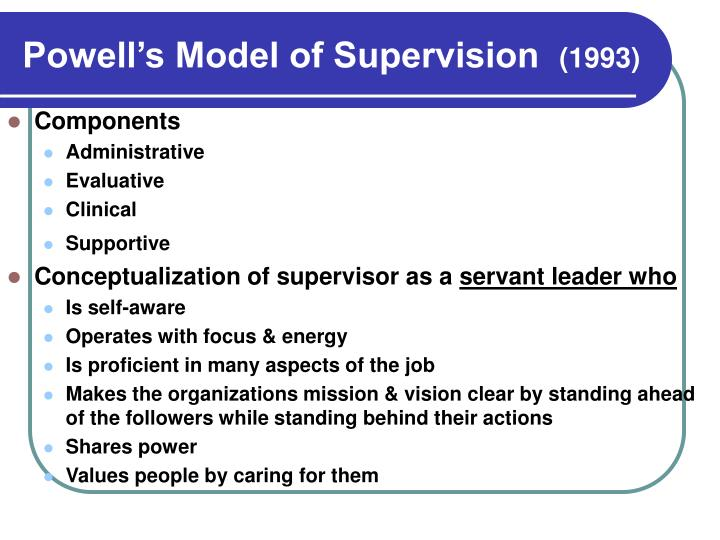 Powell's Model of Supervision