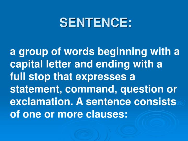 SENTENCE: