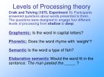 levels of processing theory4